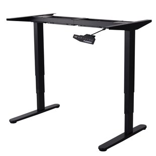 Symple Stuff Adjustable Height Electric Workstation Rectangular Standing Desk