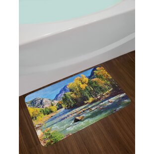 Mountains Landscape Bath Rug
