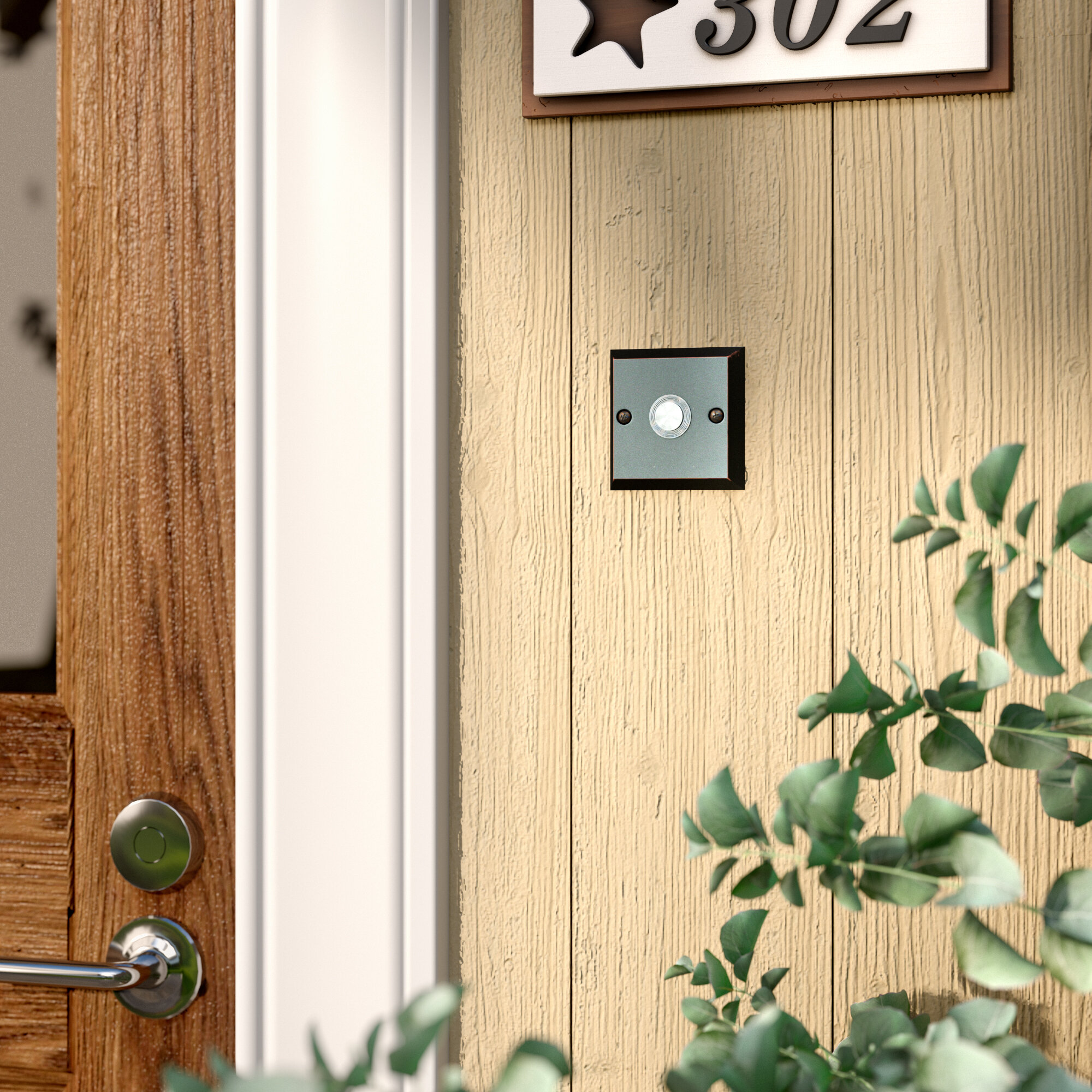 Picture of: Red Barrel Studio Forged Lighted Doorbell Push Button Wayfair