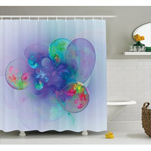 Cammi Creative Modern Design Shower Curtain + Hooks