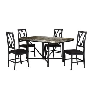 Iron City Faux Concrete Dining Table