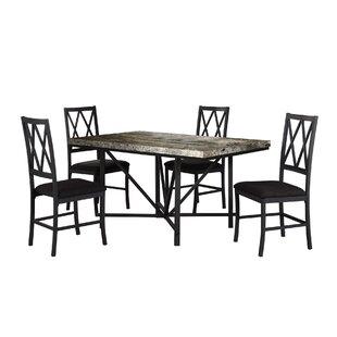 Iron City Faux Concrete Dining Table by Fleur De Lis Living Top Reviews