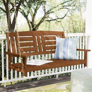 Review Arianna Hardwood Hanging Porch Swing