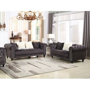 Leyton Upholstered 2 Piece Living Room Set by Canora Grey