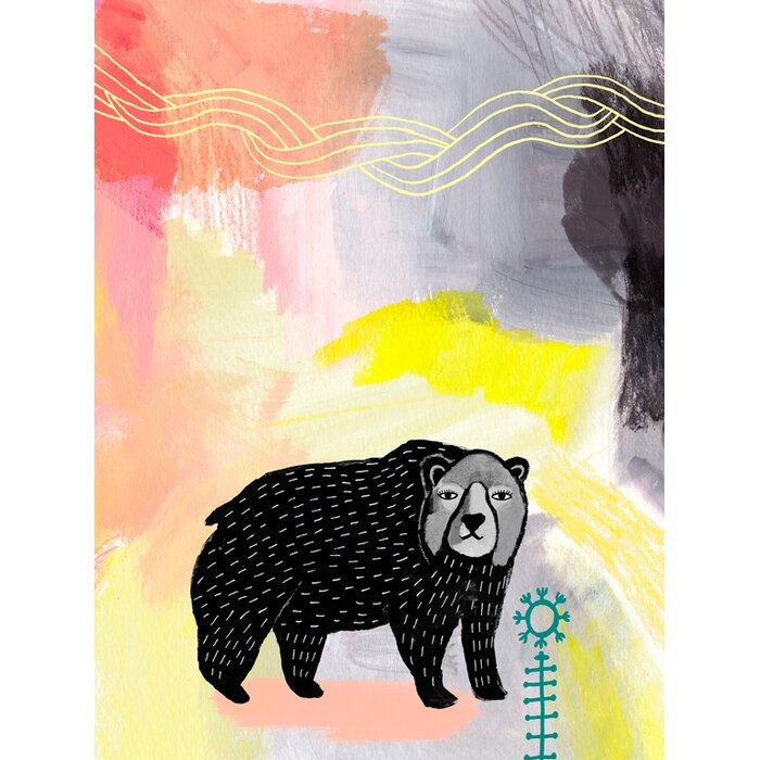 Harriet Bee Jaylen Black Bear Painted Wildlife by Misha Maynerick ...