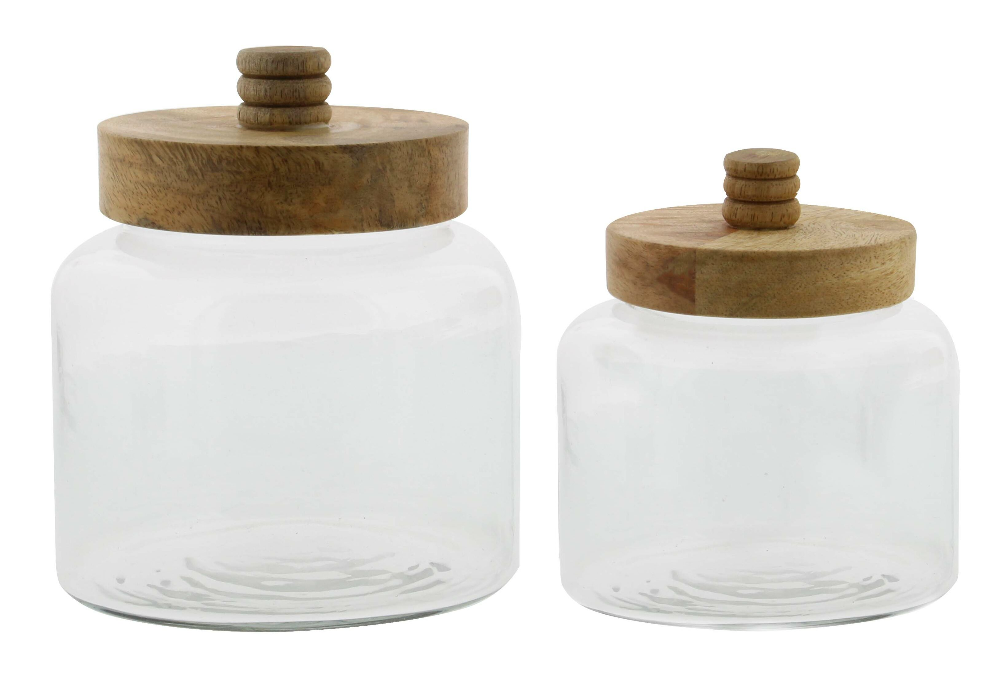 Bungalow Rose Modern Glass 5 Qt Kitchen Canister Set &