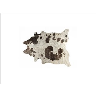 Best Choices Houchin Cowhide Chocolate/White Area Rug By Brayden Studio