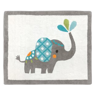 Great choice Mod Elephant Hand-Tufted Gray/White Area Rug By Sweet Jojo Designs