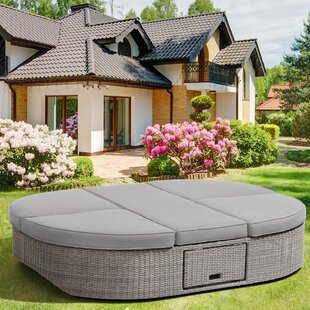 Sandra Swivel Outdoor Daybed with Cushions by Ove Decors