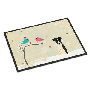 Christmas Presents Between Friends Smooth Fox Terrier Doormat