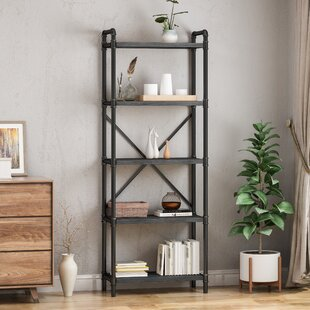 Head Iron 5 Shelf Etagere Bookcase by 17 Stories