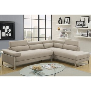 Krahn Glossy Reversible Sectional by Orren Ellis