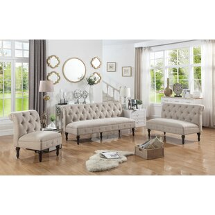 Selina 3 Piece Living Room Set by Alcott Hill