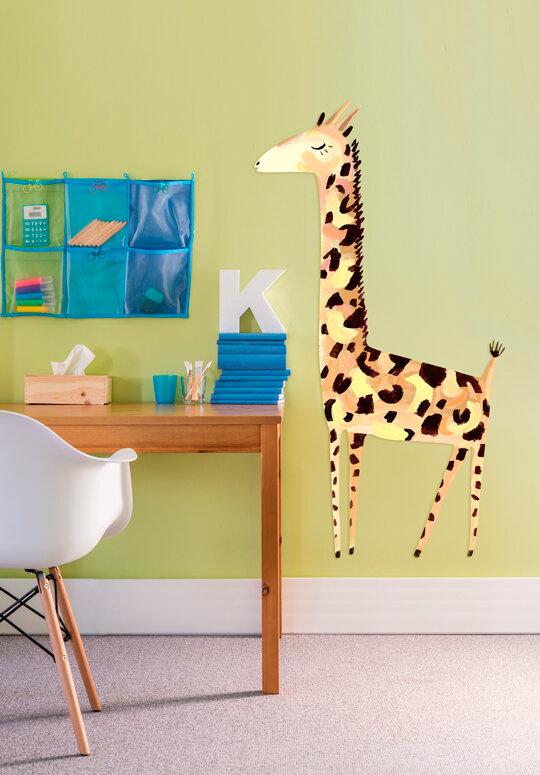 oopsy daisy giant gentle giraffe wall decal | wayfair