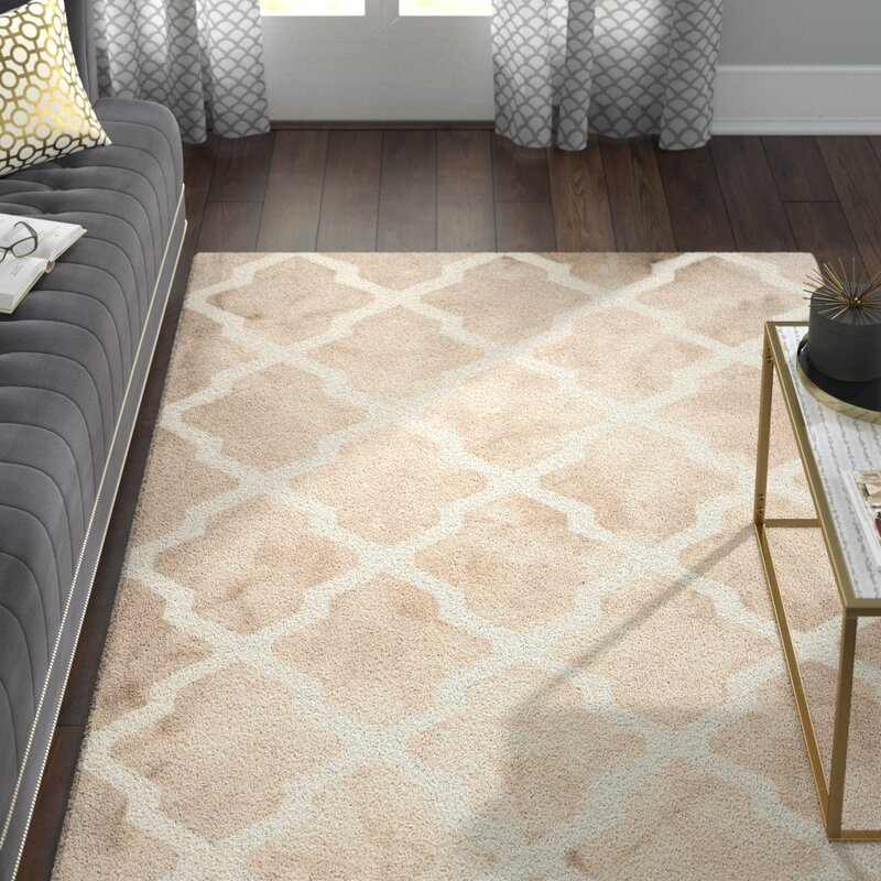 Hand Tufted Wool Beige Ivory Area Rug