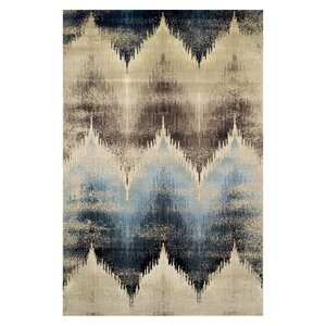 Abril Beige/Blue Area Rug