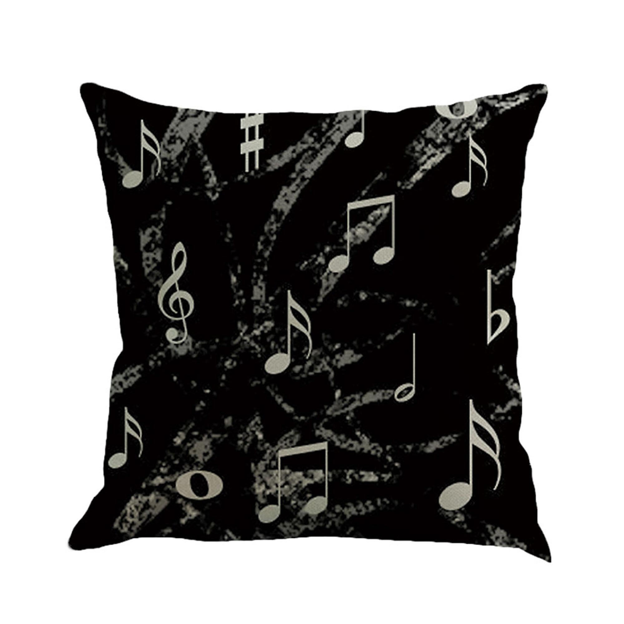 Red Barrel Studio Schroedersmusic Notes Cotton Throw Pillow Reviews Wayfair