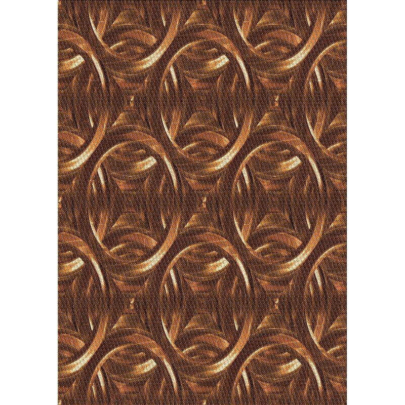 East Urban Home Geometric Wool Orange Area Rug Wayfair