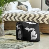 Home Sweet Lansing Cube Ottoman by East Urban Home