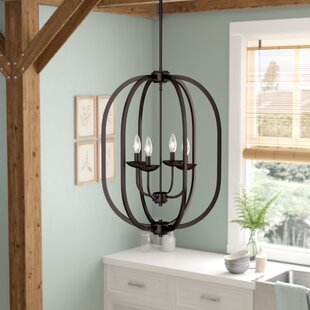 Bouvet 4-Light Geometric Chandelier by Laurel Foundry Modern Farmhouse