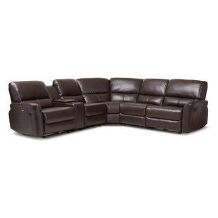Latitude Run Polett Power Reclining Sectional with USB Ports