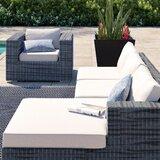 Rattan Box Cushion Sofa Slipcover by Brayden Studio®