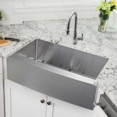 Single Stainless Steel Kitchen Sink Emodern decor ariel 33 x 21 stainless steel single bowl farmhouse 3288 x 2057 apron front single bowl undermount stainless steel kitchen sink with faucet workwithnaturefo