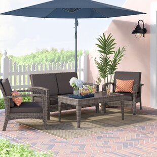 Online Purchase Hazle 4 Piece Sofa Set with Cushions Buy & Reviews