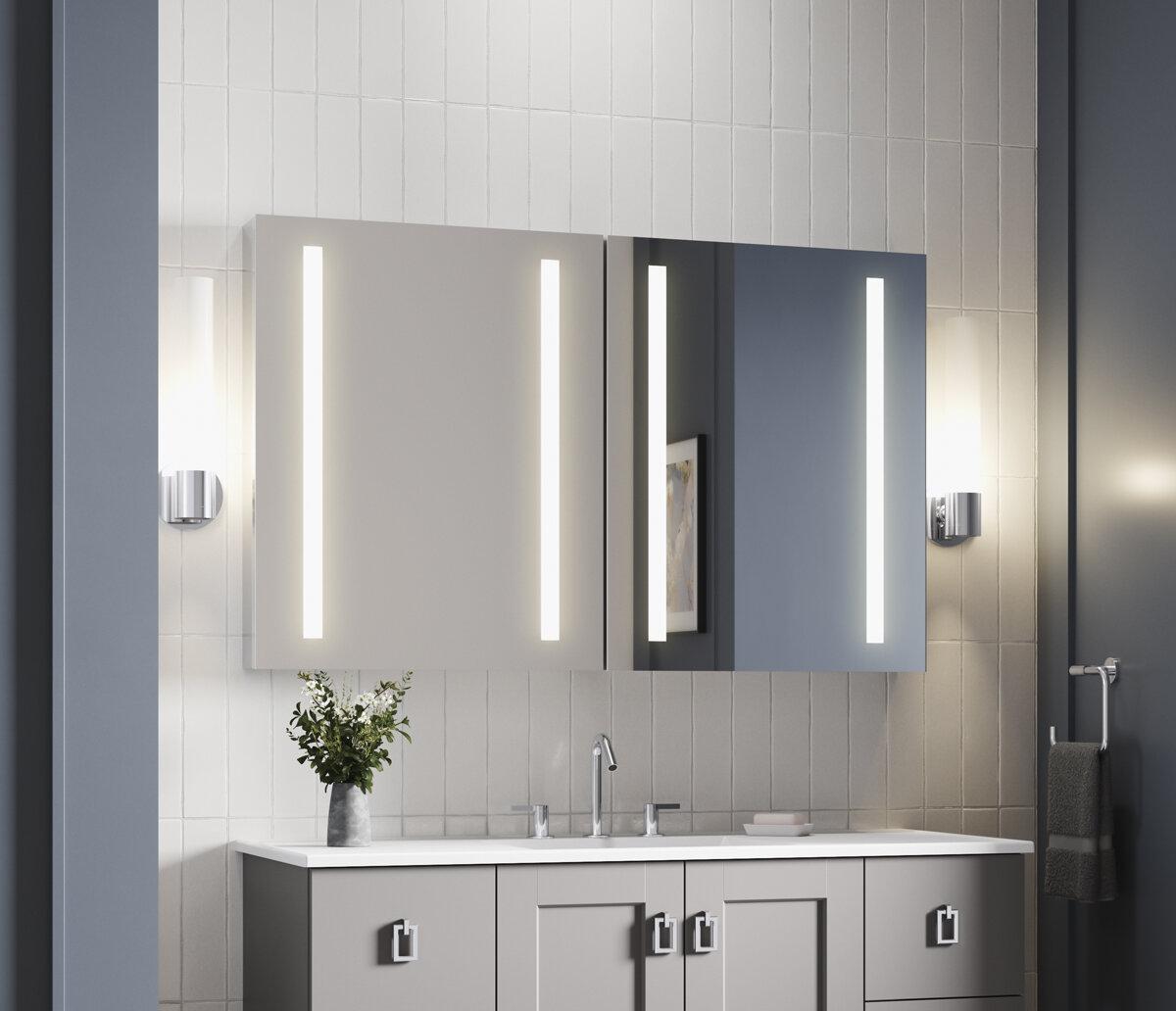 Kohler Verdera 48w X 30h Lighted Medicine Cabinet Wayfair