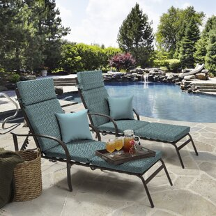 Tile Outdoor Chaise Lounge Cushion