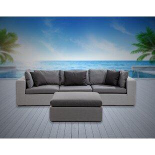 Malani 4 Piece Sunbrella Sofa Seating Group with Sunbrella Cushions by Brayden Studio