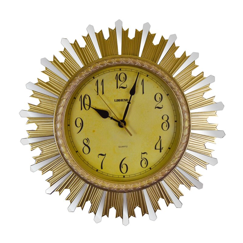 Charlton Home Huot Wall Clock Wayfair