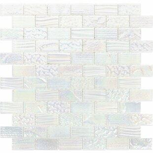 Marina  Glass Mosaic Tile In White