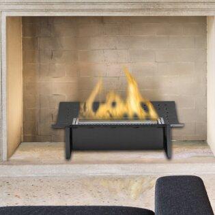 Eco-Feu Bio-Ethanol Fireplace Finish: Matte Black