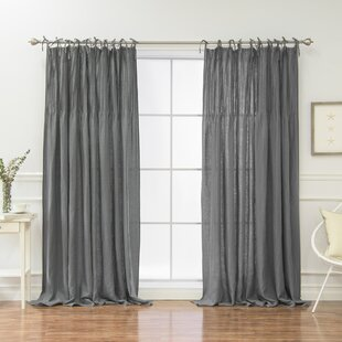 Modern Contemporary Tie Tab Curtains