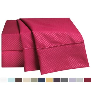 Clara Clark Embossed Checkerboard Design Sheet Set