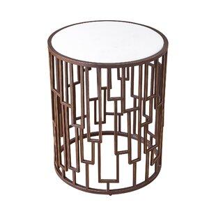 Shingle Barrel End Table