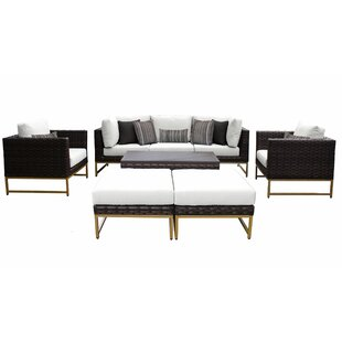 Barcelona 8 Piece Sectional Seating Group with Cushions