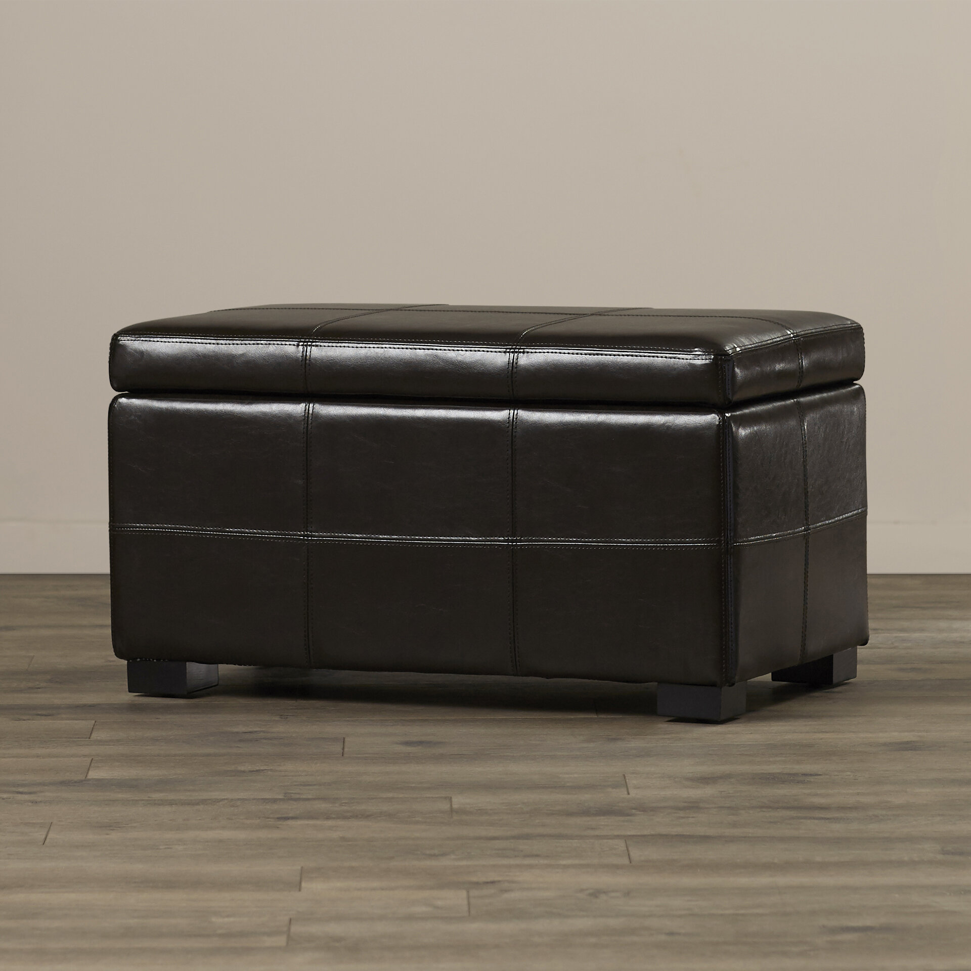 Winston Porter Andes Genuine Leather Storage Ottoman Wayfair