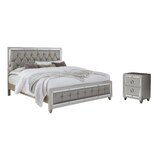 Rosaline Tufted Upholstered Standard Configurable Bedroom Set by Rosdorf Park