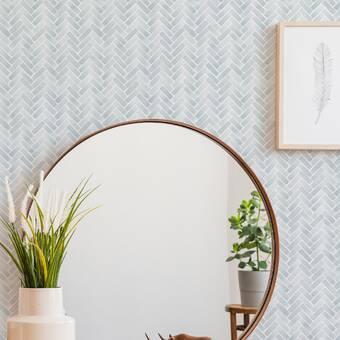 Magellan Watercolor Herringbone Paintable Peel And Stick Wallpaper Panel Reviews Joss Main