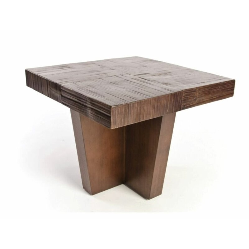 Accents By Design Solid Wood Block End Table Wayfair
