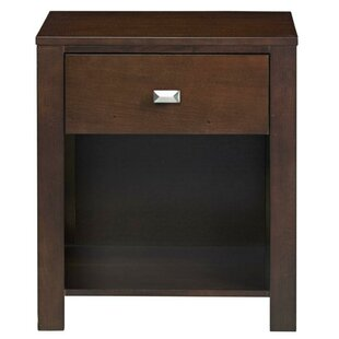 Top Crawley Wooden 1 Drawer Nightstand by Winston Porter