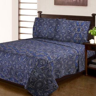Burkes 300 Thread Count Paisley 100% Egyptian-Quality Cotton Sheet Set