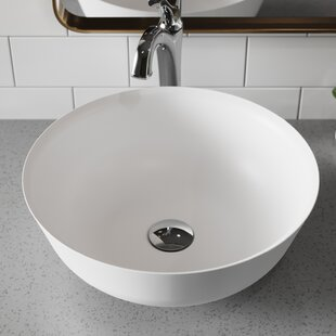 Natura & Arlo Ceramic Circular Vessel Bathroom Sink with Faucet Kraus