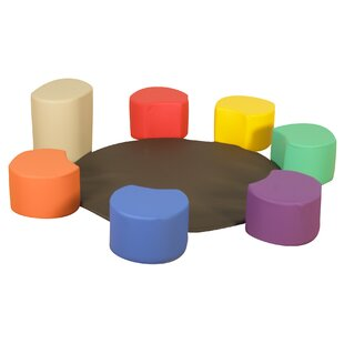 Painters Stools 8 Piece Soft Seating Set by Children's Factory