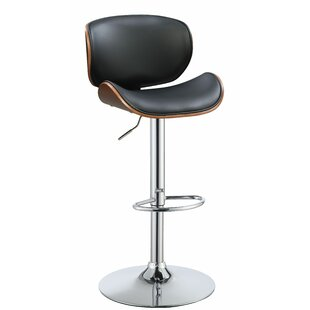 Broseley Adjustable Height Swivel Bar Stool Corrigan Studio