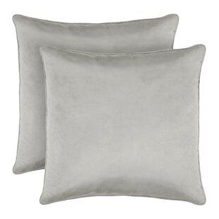 Lucas Solid Shiny Velvet Throw Pillow (Set of 2)