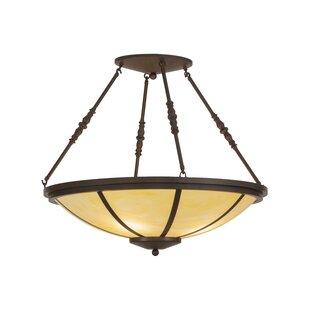 Meyda Tiffany Greenbriar Oak 4-Light Semi-Flush Mount