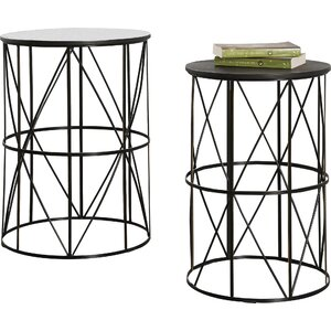 Slifer 2 Piece End Table Set by Mercury Row